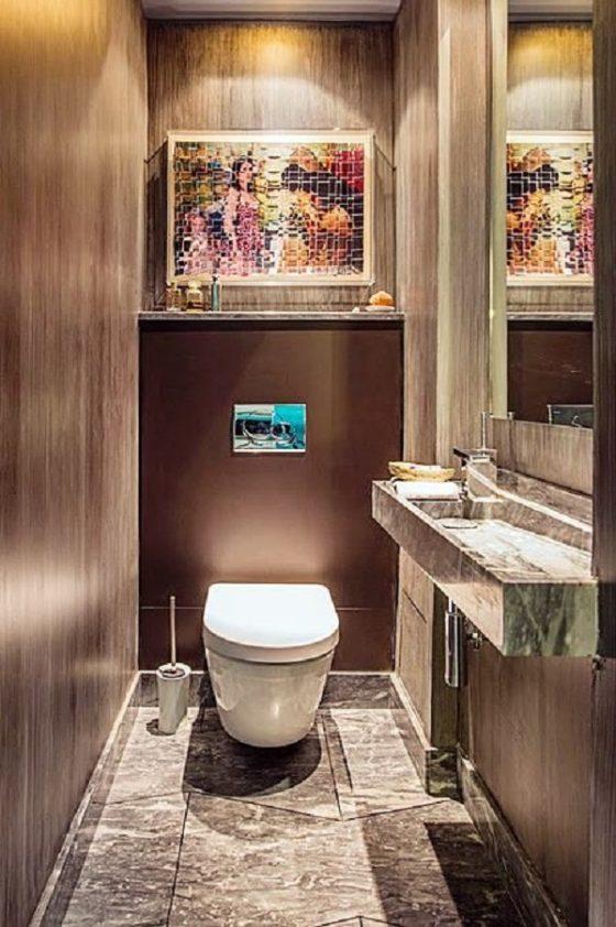 6 dicas para decorar pequenos lavabos for Fotos lavabos pequenos