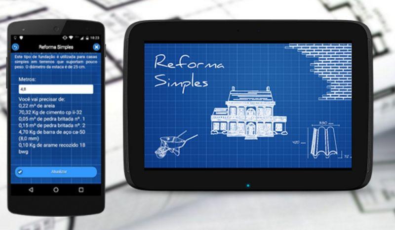 Conheça o aplicativo que ajuda a calcular os gastos de uma obra