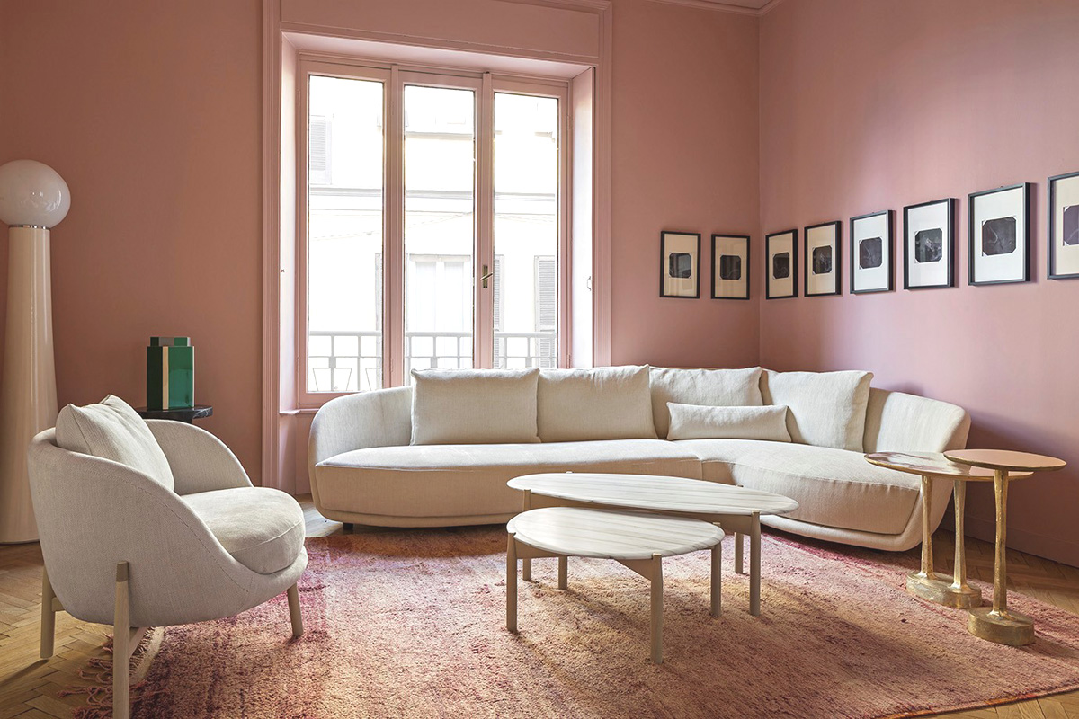 Millennial pink a cor do momento para o design e a for Sala de estar 20m2