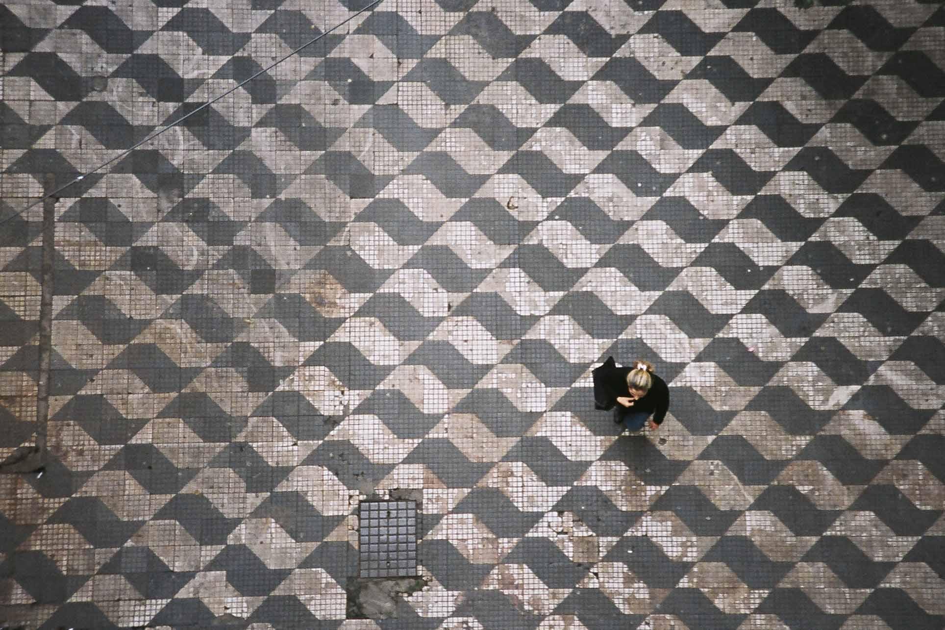 Imagem da calçada em São Paulo