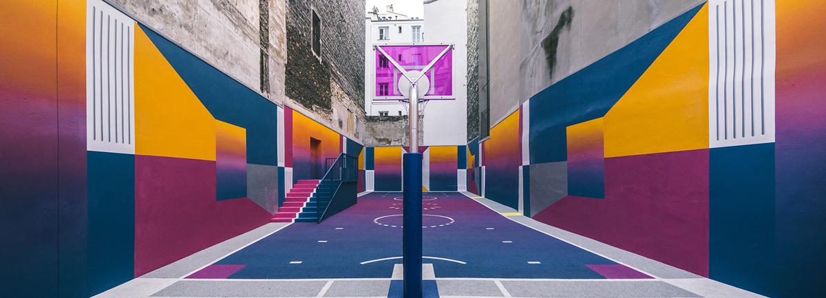 12 - Artistas criam quadras esportivas fora do comum para estimular a ocupação dos espaços públicos