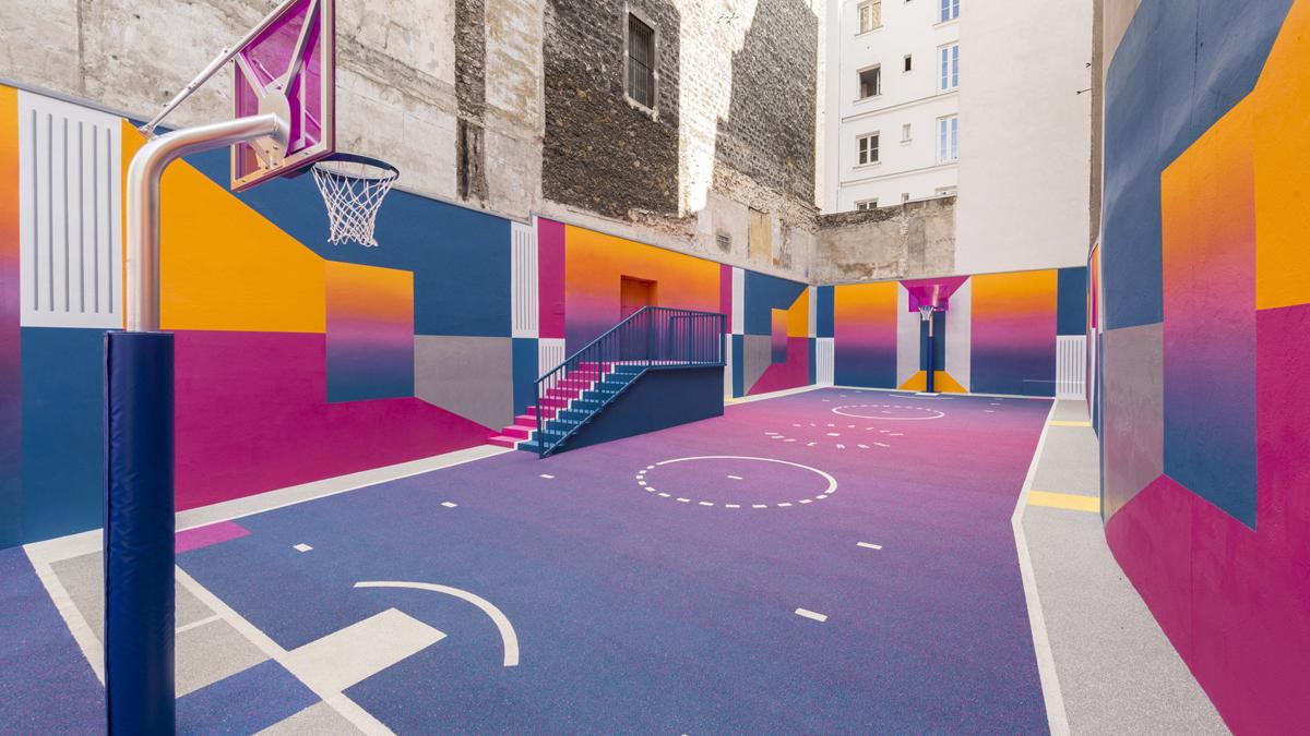 7 - Artistas criam quadras esportivas fora do comum para estimular a ocupação dos espaços públicos