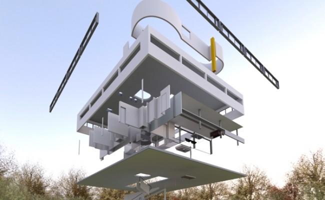 Imagem de estruturas de construção sendo montadas em desenho gráfico,como peças