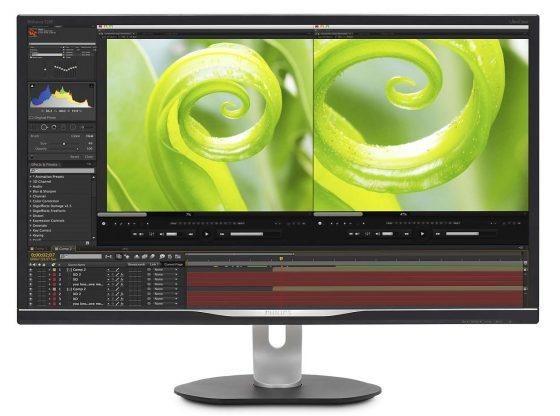 Imagem de monitor, e na tela programa gráfico