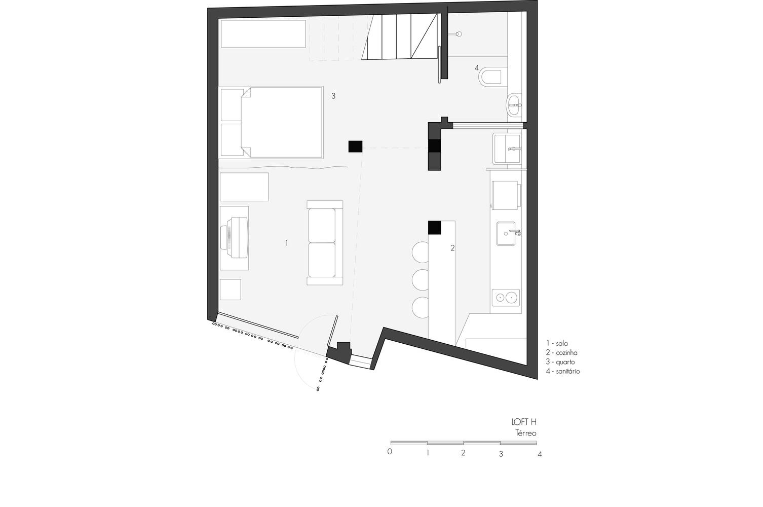 Imagem gráfica da planta do térreo