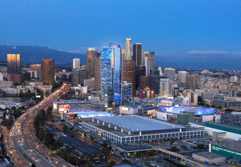 Imagem da região central de Los Angeles