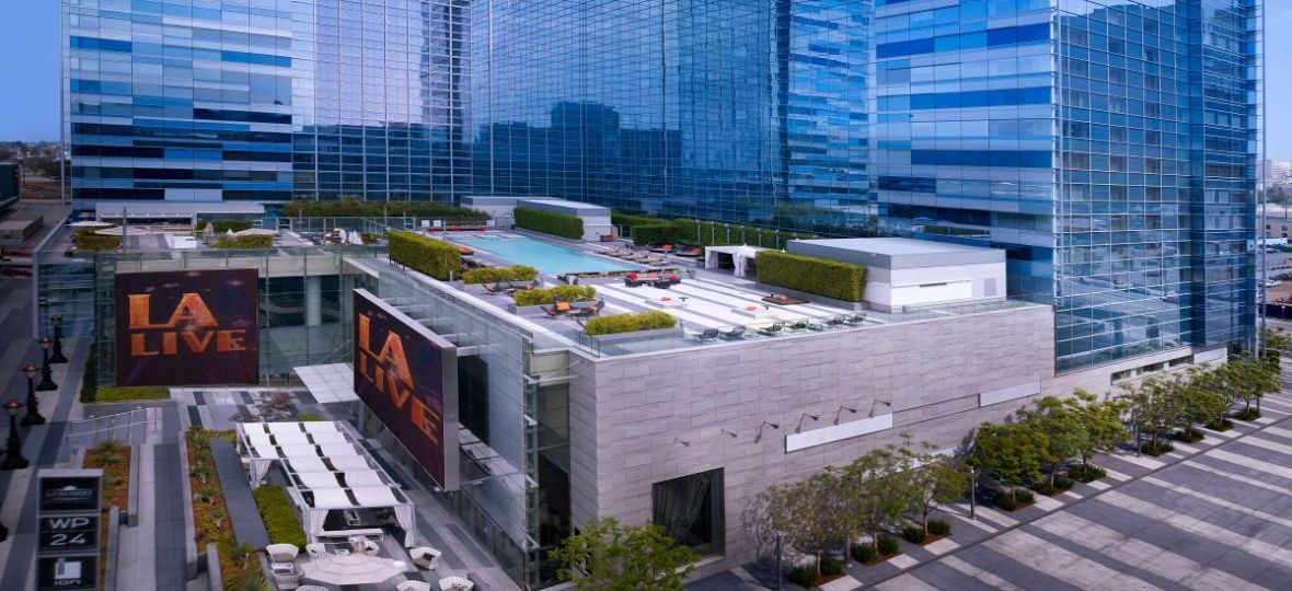 Fotografia da fachada do hotel em Los Angeles